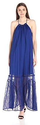 Adelyn Rae Women's Maxi with Lace Bottom