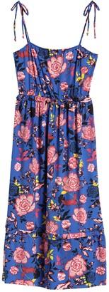Velvet Torch Tie Shoulder Tiered Floral Print Dress
