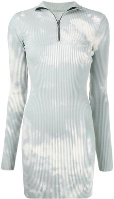 Cotton Citizen Bleached-Effect Ribbed-Knit Dress