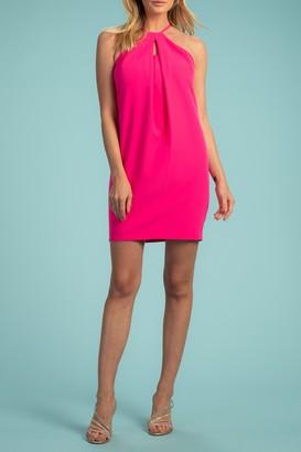 Trina Turk Bold Solid Smoothie Halter Dress