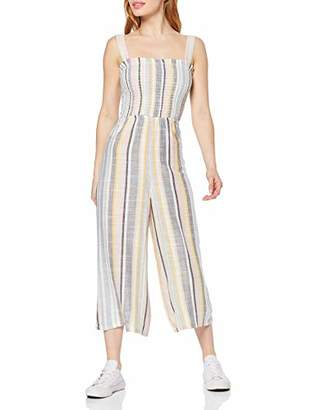 New Look Petite Women's Shirred Strip Jumpsuit,(Size:)