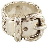 Hermes Woven Buckle Ring