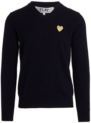 Comme des Garcons Heart Wool Sweater