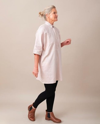 Beaumont Organic Tillie Ann Organic Cotton Tunic In Light Rose - Light Rose / Extra Small
