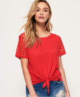 Superdry San Juan Lace Sleeve T-Shirt