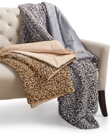 Charter Club CLOSEOUT! Cozy Faux-Fur Leopard-Print Throw