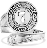 Alex and Ani Number 7 Spoon Ring