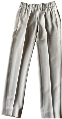 Brunello Cucinelli Ecru Silk Trousers