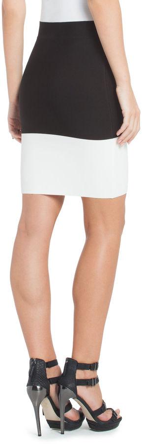 BCBGMAXAZRIA Scarlett Color-Blocked Power Skirt