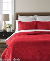Martha Stewart Collection Diamond Plush Quilt Full/queen-red