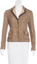 Prada Silk-Blend Tweed Blazer