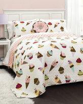 Lush Decor Cupcake Ice Cream Twin Quilt Set