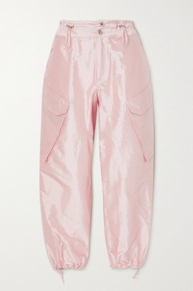 Marques Almeida Silk-satin Cargo Pants - Pink