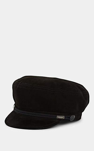 Saint Laurent Women's Suede Fisherman's Cap - Black