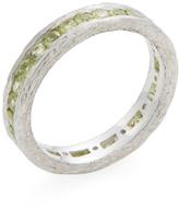 Elizabeth Showers Women's Silver & Peridot Birch Channel Stack Ring