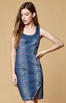 MinkPink Got The Blues Worn Denim Dress
