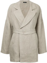Bassike flared back jacket - women - Linen/Flax - 8