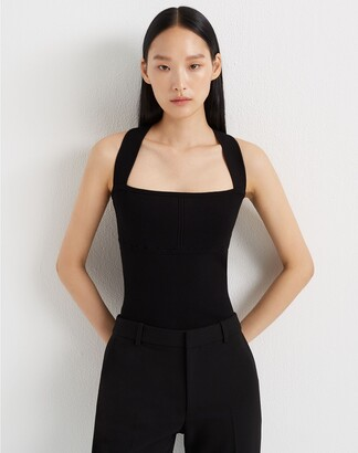 Club Monaco Cross-Back Rib-Knit Tank