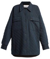 Raey Oversize Quilted Denim Jacket - Womens - Indigo