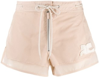 Courreges Drawstring Waist Shorts