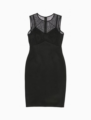 Calvin Klein Illusion V-Neck Sleeveless Sheath Dress