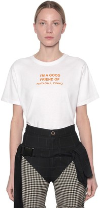 Natasha Zinko Printed Cotton Jersey T-shirt