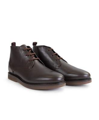 H By Hudson Calverston Leather Chukka Boots Colour: BROWN, Size: UK 7