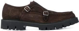 Eleventy Double-Buckle Monk Shoes