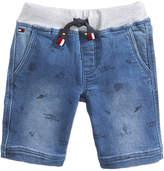 Tommy Hilfiger Schiffli Denim Shorts, Little Boys