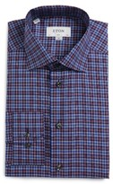 Eton Men's Slim Fit Plaid Dress Shirt