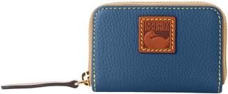 Dooney & Bourke Pebble Grain Zip Around Credit Card Case