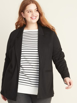 Old Navy Plus-Size Ponte-Knit Boyfriend Blazer