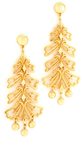 Ben-Amun Leaf Long Earrings