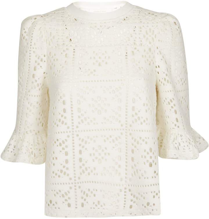See by Chloe Crocheted Loose Blouse