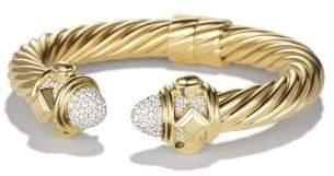 David Yurman Renaissance Bracelet With Diamonds In 18K Gold, 10Mm