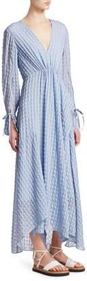 3.1 Phillip Lim Long-Sleeve Textured Flare Maxi Dress