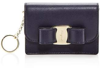 Salvatore Ferragamo Vara Rainbow Card Case & Key Chain
