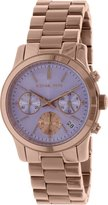 Michael Kors Runway MK6163 Women's Wrist Watches, White Dial