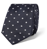 Paul Smith 6cm Star-Embroidered Silk Tie