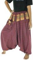 CandyHusky's Men Women Pinstripe Cotton Baggy Boho Gypsy Harem Pants Trousers