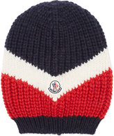 Moncler Flag Chunky Knit Oversized Beanie