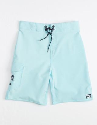 Billabong All Day Pro Little Boys Light Blue Boardshorts (4-7)