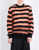 McQ Striped wool-blend jumper