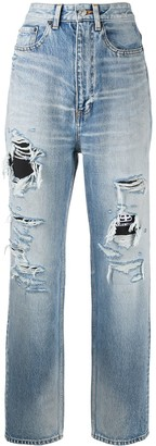 Balenciaga Ripped Detail Denim Jeans