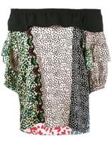 Sonia Rykiel multi-print off-shoulders blouse
