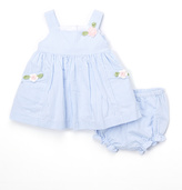 Laura Ashley Pale Blue Dress - Infant Toddler & Girls