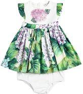 Dolce & Gabbana Poplin & Jersey Dress & Diaper Cover