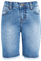 John Lewis Girls' Denim Shorts, Blue