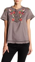 Tularosa Lewis Embroidered Peasant Blouse