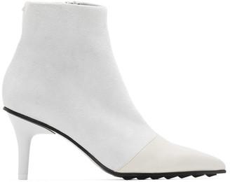 Rag & Bone White Beha Moto Ankle Boots